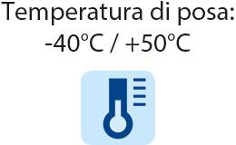 Superclick - Temperatura di posa: -40° C/+50° C