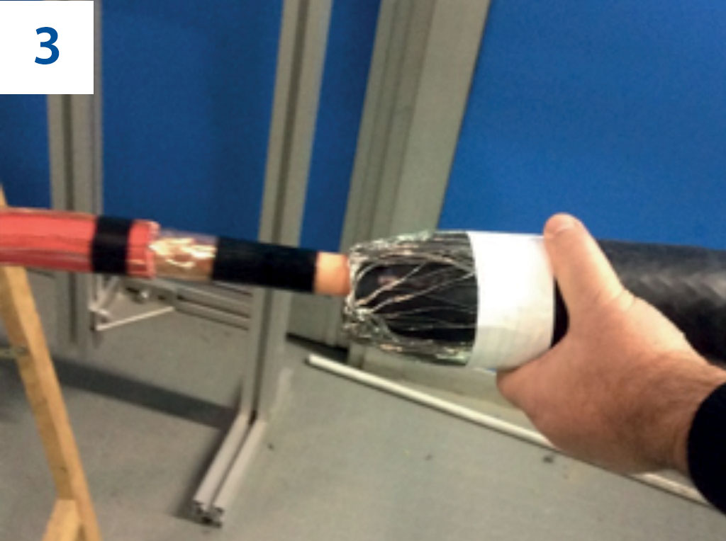 Giunti aurestringenti unipolari monoblocco 30 kV - Installation 3