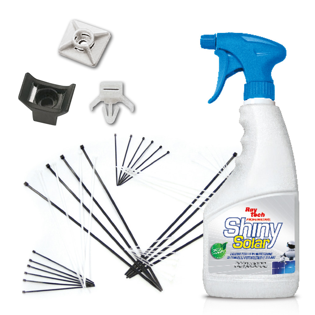 Cable ties and cleaner