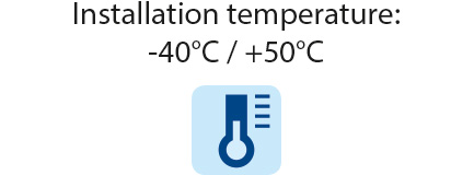 Superclik IPX8 - installation temperature